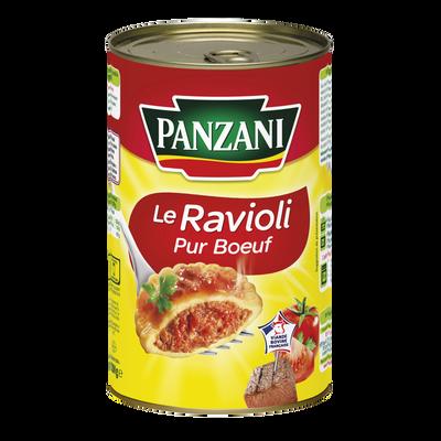 Ravioli pur boeuf (viande française) PANZANI, boîte 3/2 de 1,200kg