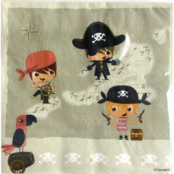 SERVIETTE PIRATE 33X33CM X20