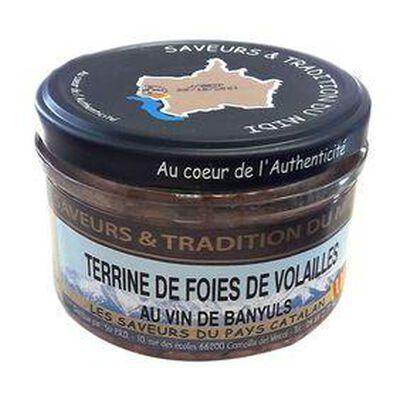 Terrine de Foie de Volailles Au Vin de Banyuls, Bocal de 190g, SAVEURS & TRADITION DU MIDI