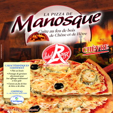 Pizza de Monasque Label rouge chèvre 430 G