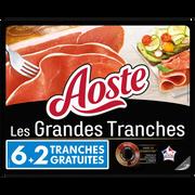Aoste Jambon Aoste, 6 Grandes Tranches + 2 Offertes Soit 220g