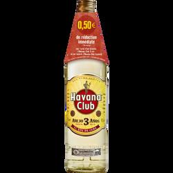 Ron blanc de Cuba 3 ans HAVANA CLUB, 40°, 70cl+bri 0,50eu ros