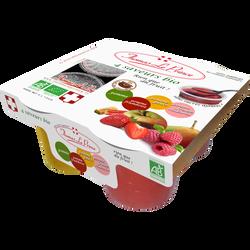 Purée de fruit parfums panachés Bio THOMAS LE PRINCE, 4x130g