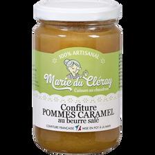 Confiture de pommes au caramel MARIE DU CLERAY, pot de 350g