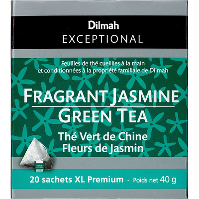 Thé vert de Chine fleurs de jasmin DILMAH, sachet de 40g