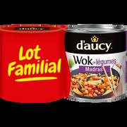 D'aucy Wok De Légumes Madras D'aucy, 2 Boîtes De 290g