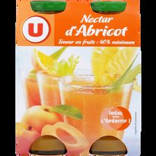 Nectar d'abricot U, 4 bouteilles de 20cl
