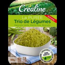 Purée trio de légumes, CREALINE, barquette 2x200g