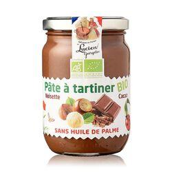 Pâte à tartiner noisette cacao Bio, LUCIEN GEORGELIN, pot de 400g