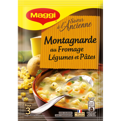 """Soupe déshydratée montagnarde """"Saveur à l'Ancienne"""" MAGGI, 78g, 75cl"""
