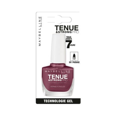 Vernis à ongles tenue & strong  pro 255 mauve on MAYBELLINE, sous blister