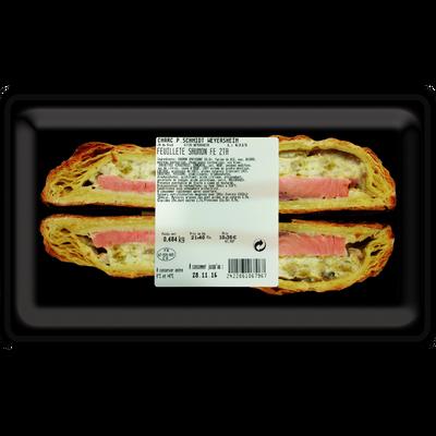 Feuillete saumon pâte pur beurre Schmidt x2 tranches 350g environ