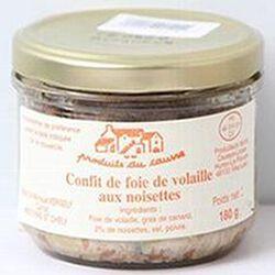Confit de foie de volaille aux noisettes, Produits du causse, 180g