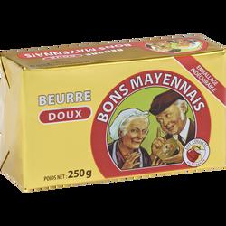 Beurre doux extra fin BONS MAYENNAIS, 80%MG, 250 g