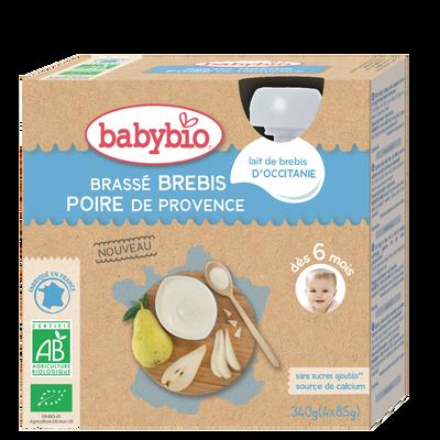 Gourde Brassé Brebis Poire BABYBIO, 4x85g