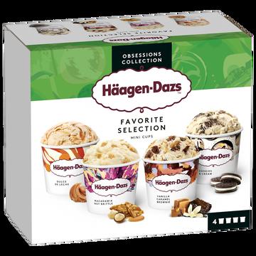 Häagen-Dazs Mini Pots De Crème Glacée Favorite Selection Häagen Dazs, 318g