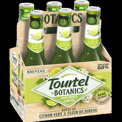 Bière sans alcool botanics citron et fleur de sureau 0° TOURTEL , 6x27,5 cl