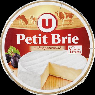 Petit Brie pasteurisé U, 32% de MG, 500G