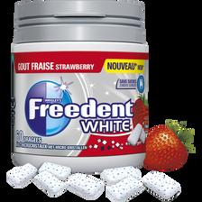 FREEDENT white goût fraise, boîte de 60 dragées, 84g