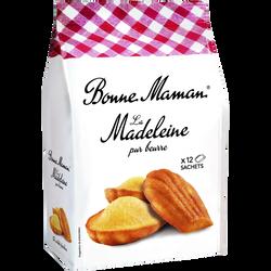 Madeleines pur beurre BONNE MAMAN, 12 unités