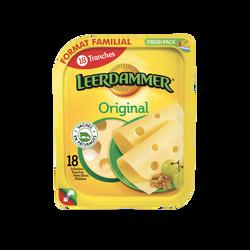 Fromage au lait pasteurisé LEERDAM, 27,5%mg, x18 soit 450g promo