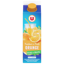 Fraîcheur de fruits orange U, brique de 1l