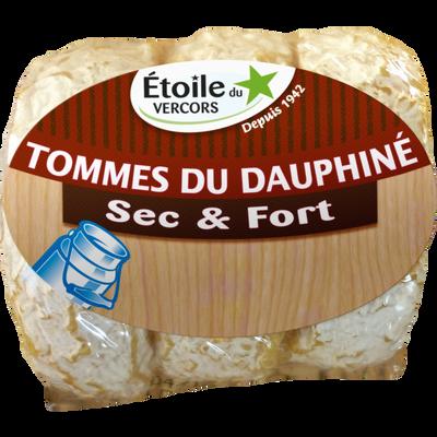 Fromage au lait cru Tomme du dauphiné sec/fort L'ETOILE DU VERCORS, 36% de MG, 180g