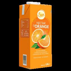 Nectar orange sun stévia, brique de 1,5 litre
