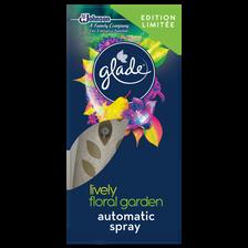 Désodorisant diffuseur automatique lively floral garden GLADE BY BRISE, spray+recharge