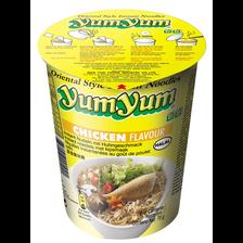 Soupe instantanée aux nouilles cup arôme poulet YUM YUM, bol de 70g