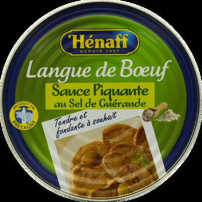 Langue de boeuf sauce piquante HENAFF, 410g