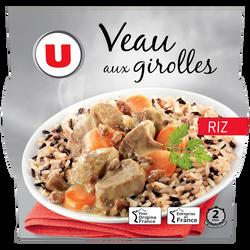 Veau aux girolles et son riz U, barquette micro-ondable de 300g