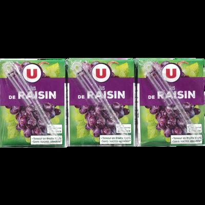Jus de raisin U, 6 briques de 20cl