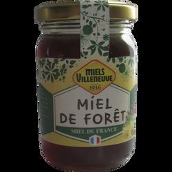 Miel de fôret de France, MIELS VILLENEUVE, pot de 250g