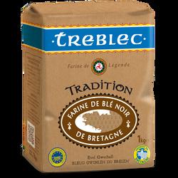 Farine blé noir TREBELEC tradition, boîte de 1kg