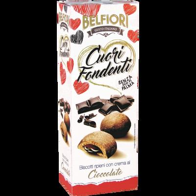 Biscuits fourrés à la crème goût chocolat BELFIORI, 200g