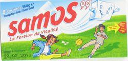 Double Crème au lait pas., SAMOS 99, 33%MG, 8 portions, 144G