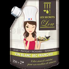 Vin de France blanc sec 11% SECRET DE LOU mini wine pack 25cl