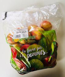 Pomme Royal Gala, LA POMMERAIE NANTAISE, calibre 115/135, catégorie 1, Treillières, sachet 2kg