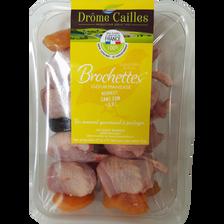 Brochette cuisses et filets cailles saveur gourmandise, 4 pièces, 410g