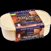 L'Angelys Crème Glacée Au Rhum Raisins L'angelys, Pot De 500g