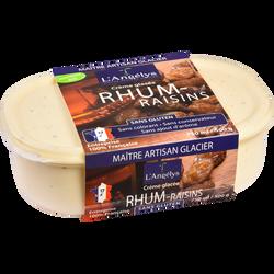 Crème glacée au rhum raisins L'ANGELYS, 500g