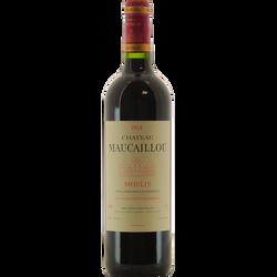 Vin rouge AOP Moulis château Maucaillou, caisse en bois 6x75cl