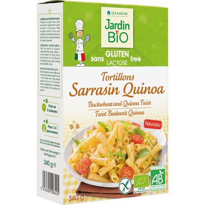 Tortillons sarrasin quinoa sans gluten JARDIN BIO, pâquet de 340g
