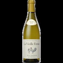 Vin blanc AOP Lubéron la vieille Ferme, 75cl