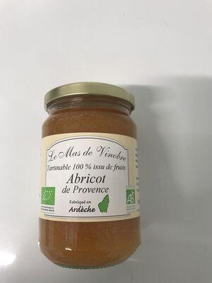 Confiture d'abricots de Provence bio 320g Mas de Vinobre