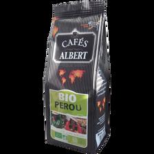 Café moulu Pérou bio 100% arabica CAFES ALBERT, 250g
