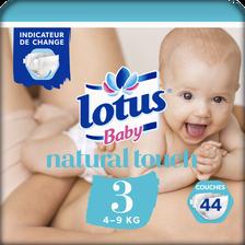 Changes touch LOTUS BABY, taille 3, 4 à 9 kg, 44 unités