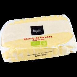 Beurre de baratte demi sel au sel fin de Guérande Bio lait pasteurisé79% de MG, 250g