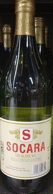 Vin blanc sec SOCARA 11°, bouteille de 1L